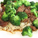 Slow Cooked Beef & Broccoli | Tender meat, vegetables, & either sprouted or cauliflower rice. Gluten free & Paleo | thenourishedfamily.com