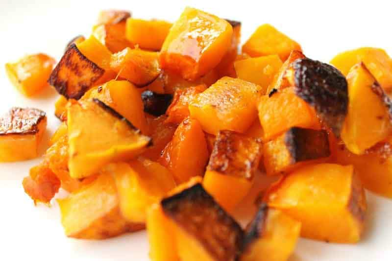Roasted & Salted Butternut Squash | Roasted & Salted Butternut Squash: The sweetness of this butternut squash with its savory roasted flavor makes it the perfect side dish for any healthy meal. An easy Paleo side dish to make that is loved by parents, kids, and babies! | thenourishedfamily.com