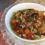 Poultry Bone Bone Broth Soup | Nutrient dense & gut heal thing soup | thenourishedfamily.com
