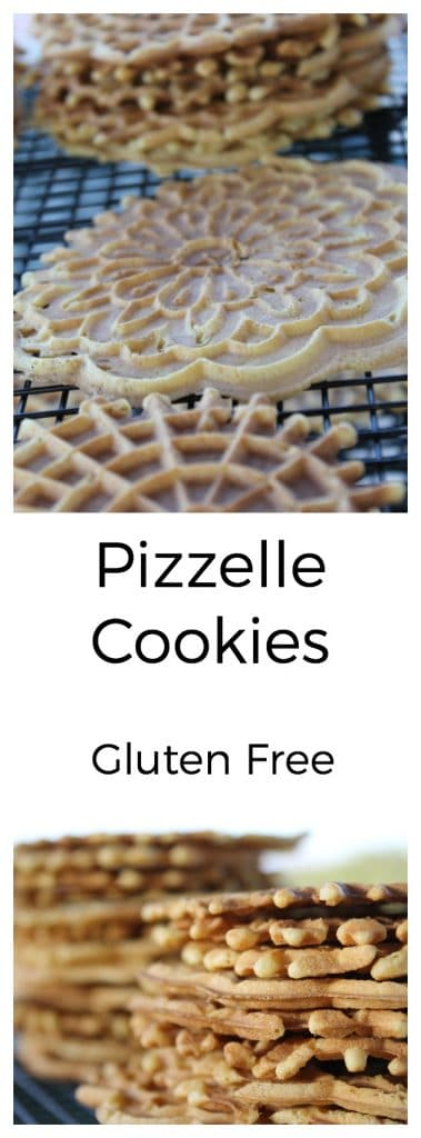 Pizzelle Cookies are gluten-free and oh so yummy!! They are made with free range eggs, healthy oil, and Namaste Organic Gluten-Free Flour Blend. | thenourishedfamily.com