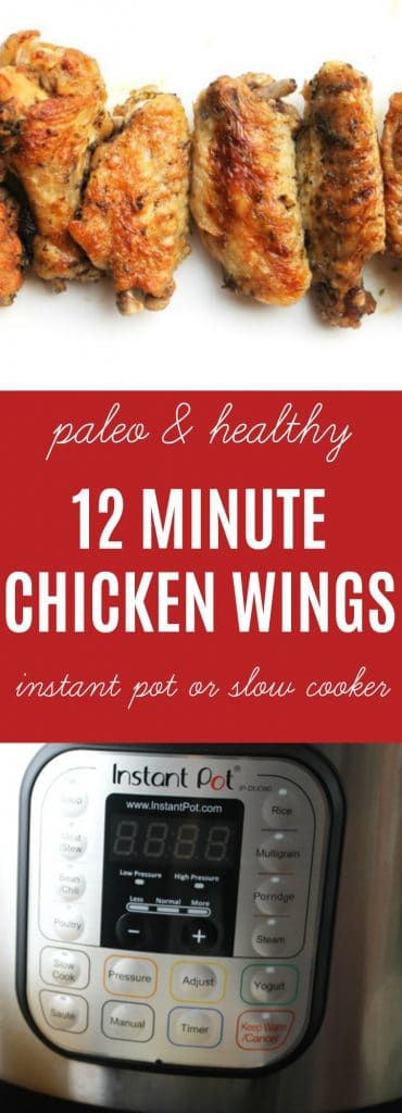 12 Minute Chicken Wings: Enjoy this super easy fast family recipe that doesn't skimp on nutritional density. Crispy, flavorful, and sure to be a favorite for the kids! Use your slow cooker or Instant Pot.. | thenourishedfamily.com