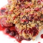 Grain Free Berry Crisp (AIP) | Autoimmune Protocol & Paleo friendly | thenourishedfamily.com
