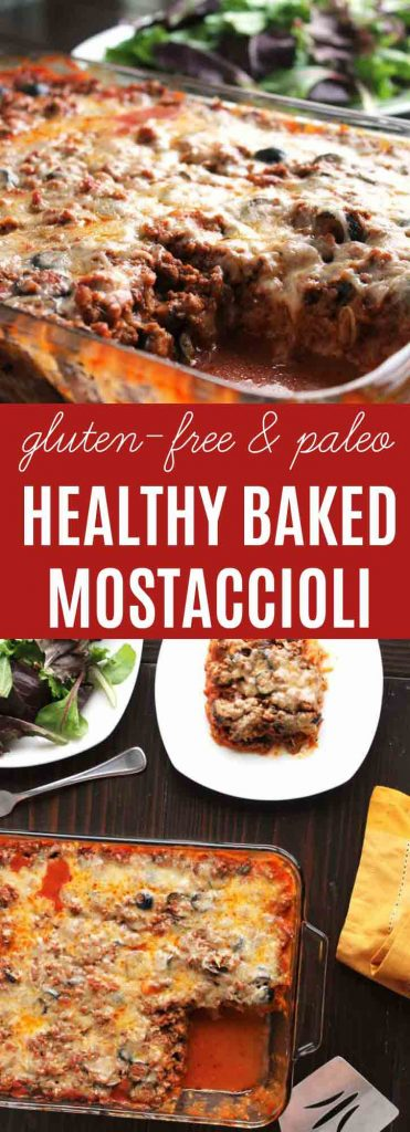 Healthy Baked Mostaccioli {Paleo} | This Healthy Baked Mostaccioli is our toddler's #1 favorite meal -- she LOVES it! A gluten free (Paleo option) meal with a hidden layer of spaghetti squash, ground beef, & savory sauce are all a part of this easy Italian themed family casserole.  | thenourishedfamily.comHealthy Baked Mostaccioli {Gluten-free} | This Healthy Baked Mostaccioli is our toddler's #1 favorite meal -- she LOVES it! A gluten free (Paleo option) meal with a hidden layer of spaghetti squash, ground beef, & savory sauce are all a part of this easy Italian themed family casserole.  | thenourishedfamily.com
