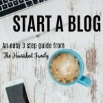 Interested in Starting a Food Blog? | Check out this easy to follow step-by-step guide to getting your blog started TODAY! | thenourishedfamily.com