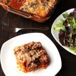 Healthy Baked Mostaccioli {Gluten-free} | This Healthy Baked Mostaccioli is our toddler's #1 favorite meal -- she LOVES it! A gluten free (Paleooption) meal with a hidden layer of spaghetti squash, ground beef, & savory sauce are all a part of this easyItalian themed family casserole. | thenourishedfamily.com