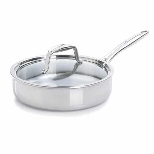 """Pampered Chef Stainless Steel 10"""" Covered Skillet"""