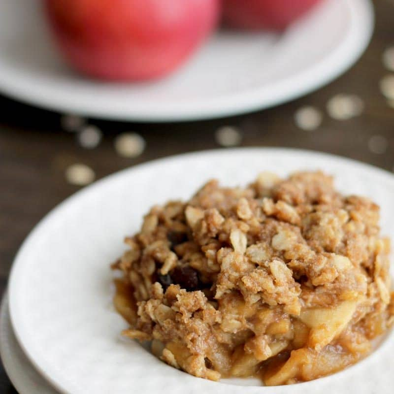 Cinnamon Raisin Apple Crisp