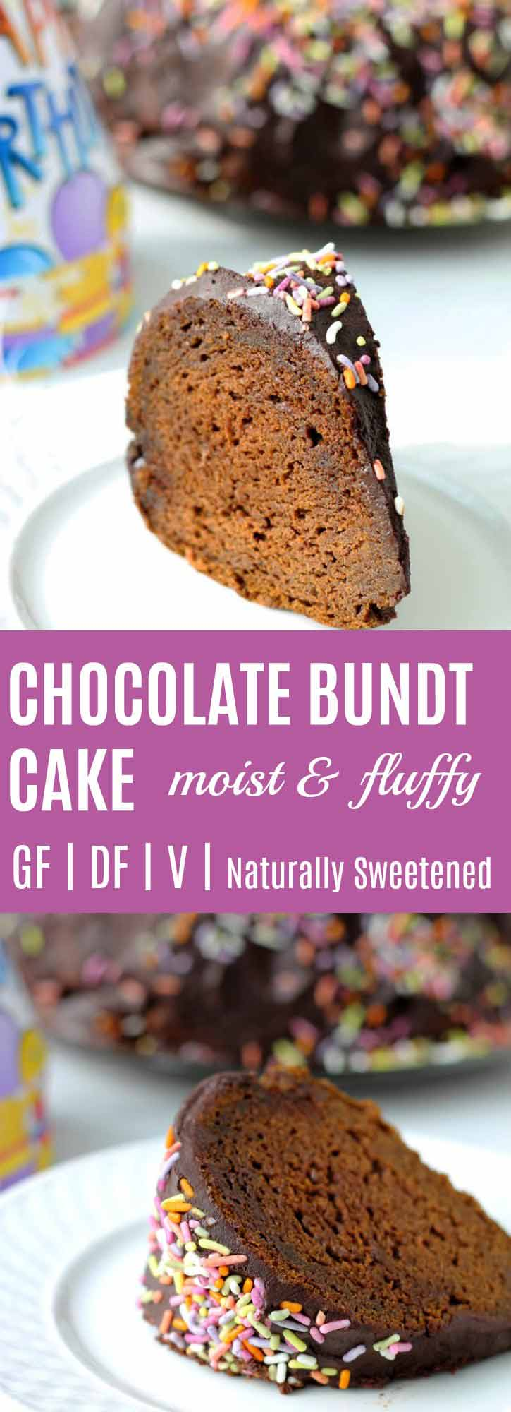 Moist Chocolate Bundt Cake Recipe {Vegan & Gluten-free} | This Moist Chocolate Bundt Cake is definitely as HEALTHY & DELICIOUS as cake gets. Moist, fluffy, naturally sweetened. You are going to love this recipe! | thenourishedfamily.com