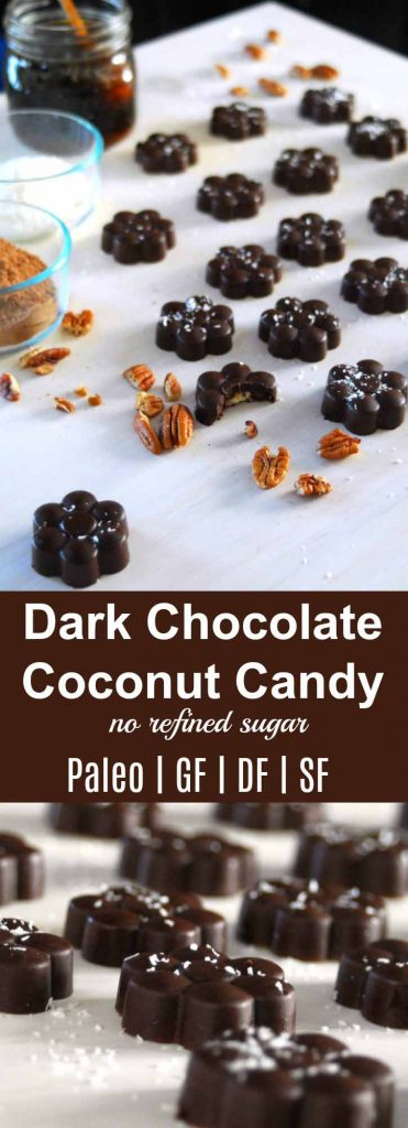"Dark Chocolate Coconut Candy {Paleo} | Dark Chocolate Coconut Candy is mouth watering and filled with great fats, protein and flavor. A ""candy"" to feed your family that also provides them dense nutrition. 