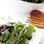 This Easy Salad Recipe is delightfully simple while packed full of flavor & nutrition. The sprouted pumpkin seeds from GoRaw add a nice crunch & the authentic aged balsamic gives the salad a tangy sweetness.  | thenourishedfamily.com