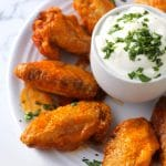 Crispy Baked Hot Wings {Paleo}